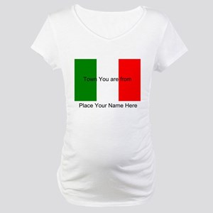 Personalized Flag Maternity T-Shirt
