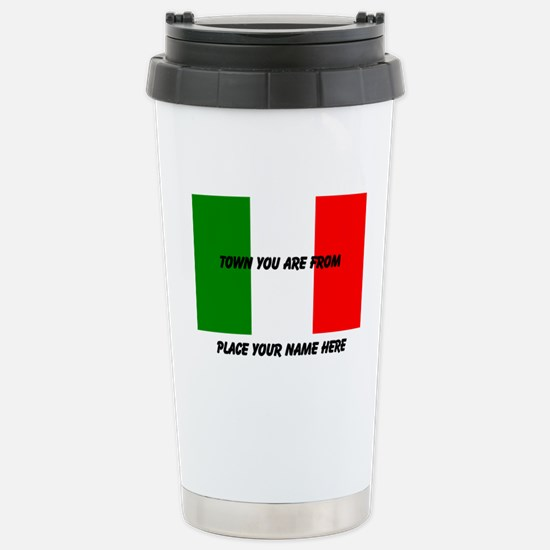 Personalized Flag Stainless Steel Travel Mug