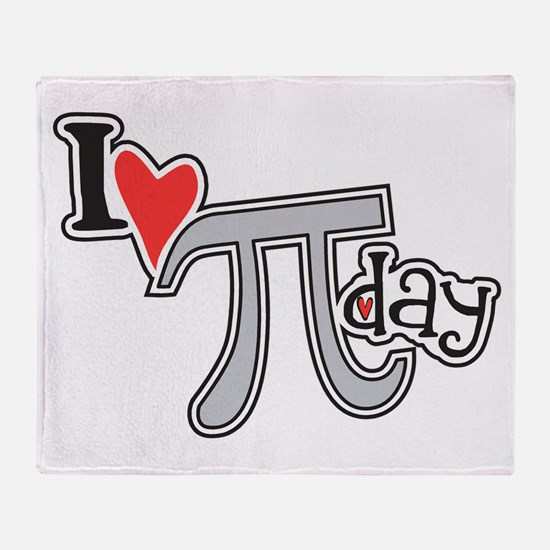 I heart (love) Pi Day Throw Blanket