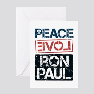 Peace Love Ron Paul Greeting Card