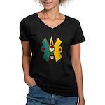 Ollin Women's V-Neck Dark T-Shirt