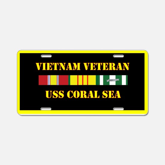 USS Coral Sea Aluminum License Plate