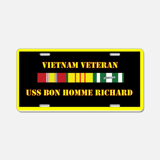 USS Bon Homme Richard Aluminum License Plate