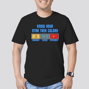 ST: Colors Men's Fitted T-Shirt (dark)