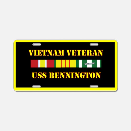 USS Bennington Aluminum License Plate