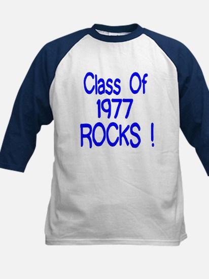 1977 blue Kids Baseball Jersey