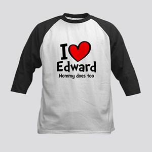 Heart Red Edward Kids Baseball Jersey