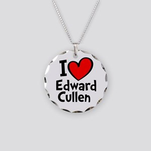 Heart Red Ed Necklace Circle Charm