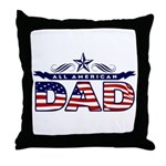 All American Dad #1 Throw Pillow