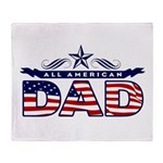 All American Dad #1 Throw Blanket
