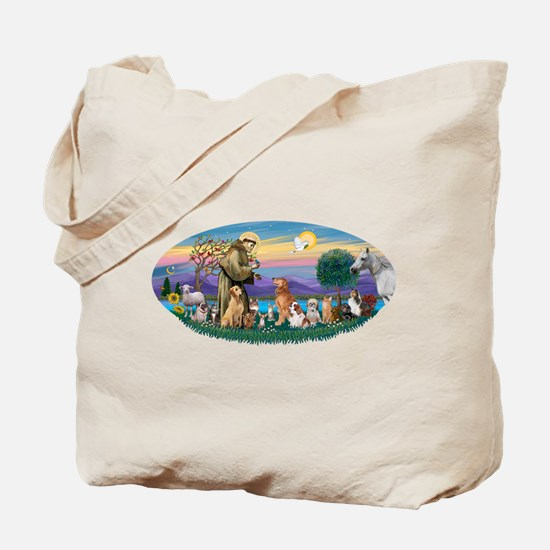 StFrancis-Dogs-Cats-Horse Tote Bag