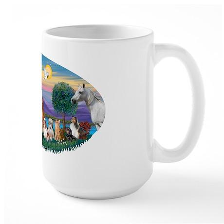 StFrancis-Dogs-Cats-Horse Large Mug