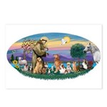 StFrancis-Dogs-Cats-Horse Postcards (Package of 8)