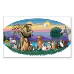 StFrancis-Dogs-Cats-Horse Sticker (Rectangle)