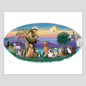StFrancis-Dogs-Cats-Horse Small Poster