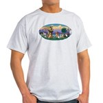 StFrancis-Dogs-Cats-Horse Light T-Shirt