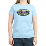 StFrancis-Dogs-Cats-Horse Women's Light T-Shirt