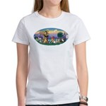 StFrancis-Dogs-Cats-Horse Women's T-Shirt