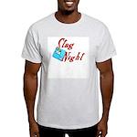Stag Night Ash Grey T-Shirt