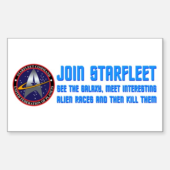 ST: Starfleet Sticker (Rectangle 10 pk)