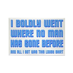 ST: Boldly Went Rectangle Magnet (100 pack)