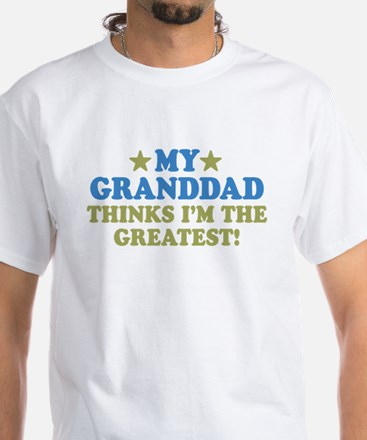 Greatest Granddad White T-Shirt