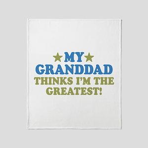 Greatest Granddad Throw Blanket