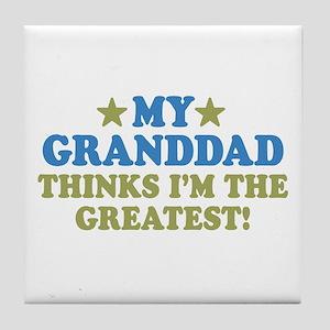 Greatest Granddad Tile Coaster