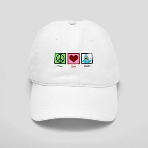 Peace Love Sharks Cap