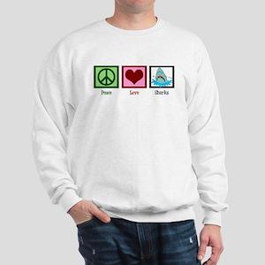 Peace Love Sharks Sweatshirt