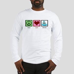 Peace Love Sharks Long Sleeve T-Shirt