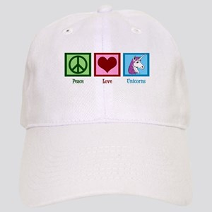 Peace Love Unicorns Cap