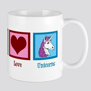 Peace Love Unicorns Mug