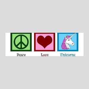 Peace Love Unicorns 36x11 Wall Decal