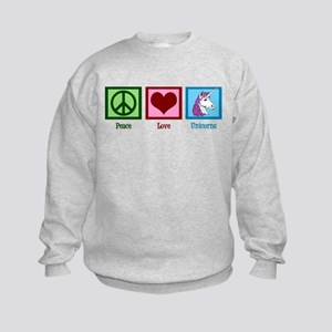Peace Love Unicorns Kids Sweatshirt