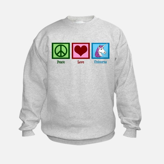 Peace Love Unicorns Sweatshirt