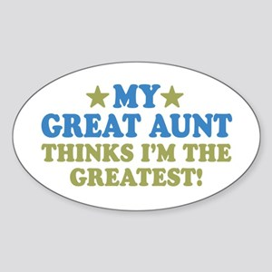 My Great Aunt Sticker (Oval)