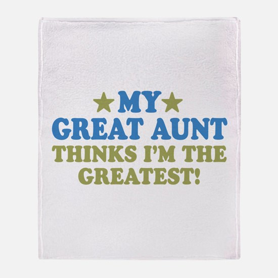 My Great Aunt Throw Blanket
