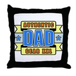 Authentic Dad Gear Throw Pillow