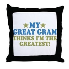 My Great Gram Throw Pillow