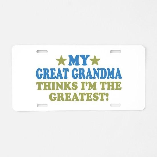 My Great Grandma Aluminum License Plate
