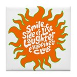 Tile Coaster smile side of life