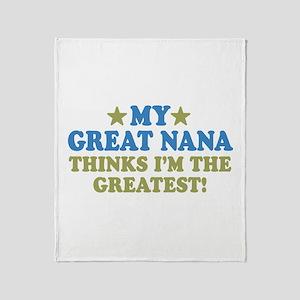 My Great Nana Throw Blanket