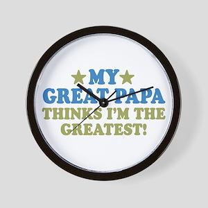 My Great Papa Wall Clock