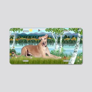Birches - Greyhound Aluminum License Plate