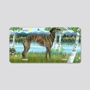 Birches-Greyhound-br Aluminum License Plate