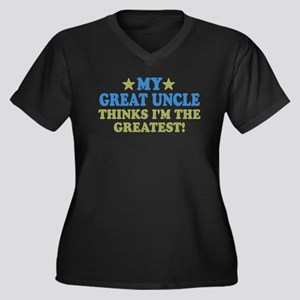 My Great Uncle Women's Plus Size V-Neck Dark T-Shi