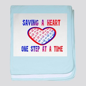 Walk to save a heart baby blanket