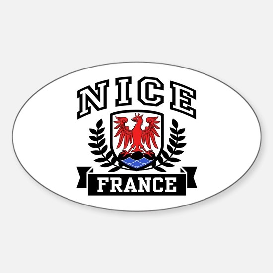 Nice France Sticker (Oval)