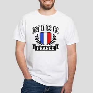 Nice France White T-Shirt